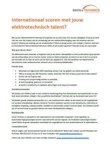 Elektrotechnische talent voor internationale projecten